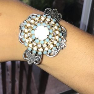 Jewelry - Antique Broach and Watch Band Bracelet